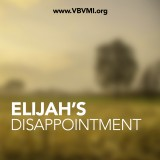 Elijah's Disappointment