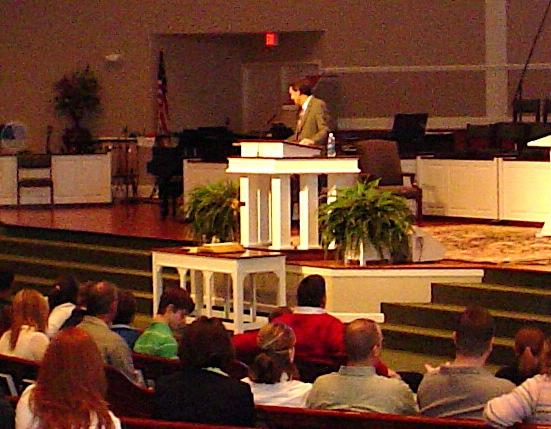 Stephen preaching